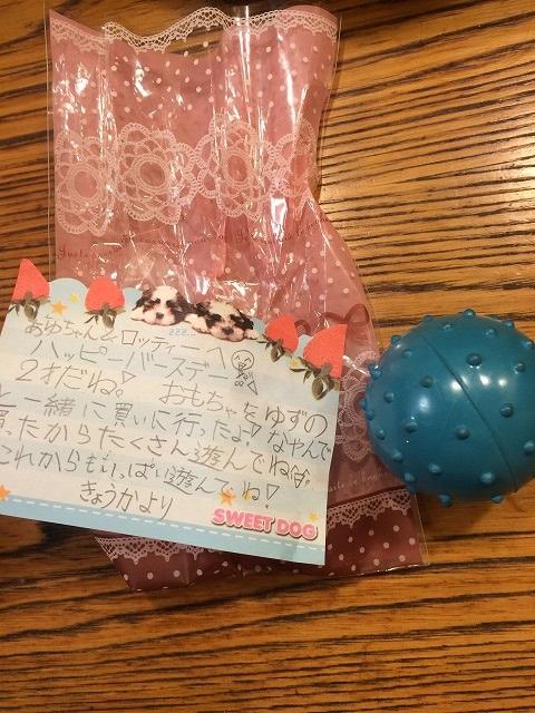 娘の友達からのプレゼント